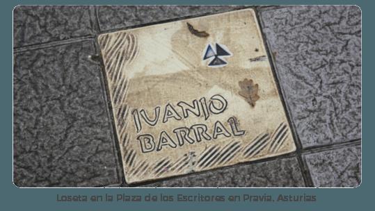 Loseta JUANJO BARRAL Plaza de los Escritores en Pravia Asturias